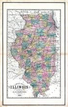 Illinois, United States 1885 Atlas of Central and Midwestern States